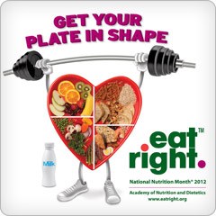 National Nutrition Month Get Your Plate in Shape Logo