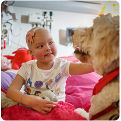 Child dealing with emotional effects of cancer