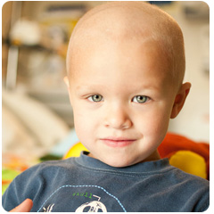 child with cancer in children's hospital